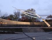Uroczystość przed Pomnikiem Poległych Lotników Polskich 31.X.2016
